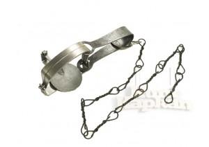 Классический капкан №1 с витой цепью D-2 мм